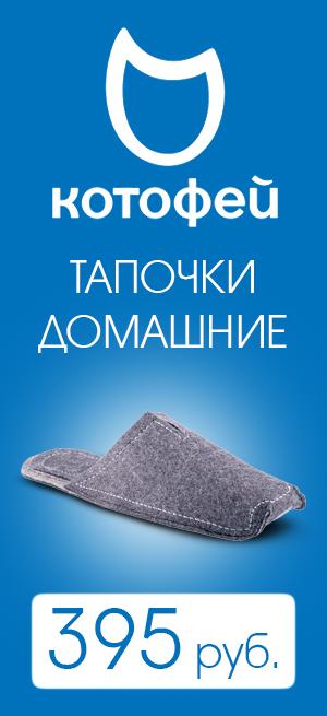 Котофей - тапочки домашние, 395 руб.